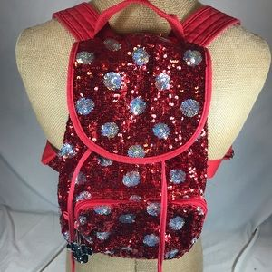 Minnie Mouse Sequin Backpack Purse Disney Parks